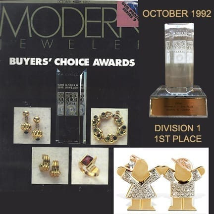 "Modern Jeweler Buyers Choice Awards Division Won 1st Place <img class=""alignleft size-medium wp-image-1786"" src=""http://69.16.227.220/~ronakcor/newsite2/wp-content/uploads/2017/12/1975pic-300x207.jpg"" alt="""" width=""300"" height=""207"" />"