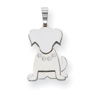 XK870AA - The Pets, Dog, 14k White Gold Multi-Layer, Diamond G Color SI, Medium