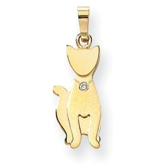 XK872AA - The Pets, Cat, 14K Yellow Gold Multi-Layer, Diamond G Color SI, Medium