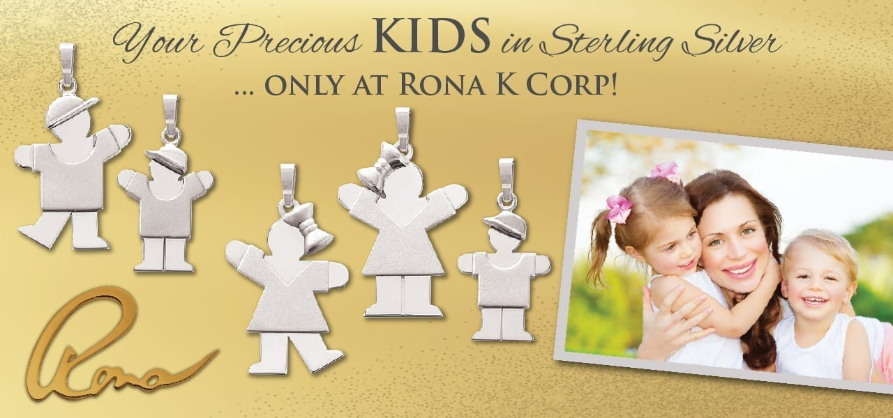 The KIDS Collection by Rona K. Corp offers necklaces and bracelets that can be customized to reflect each unique family. Ideal for moms and grandmothers, all it requires is the choice of a charm to represent each child (and pets, if you so desire) to create a truly personalized piece.